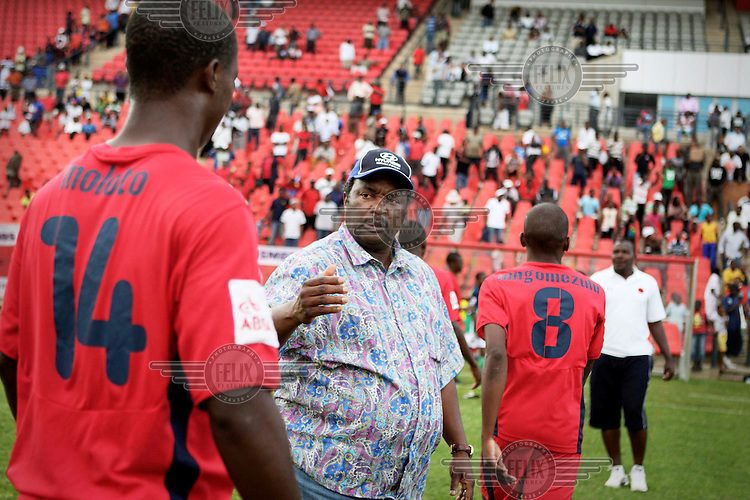 South African football Legend, Jomo Sono at a Cosmos match at the Rand Stadium. Sono is also founder and coach of local team, Jomo Cosmos...