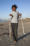 Sea shell seller, Paternoster, Western Cape, South Africa