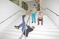 Rap Genius creators Mahbod Moghadam, 29, Tom Lehman, 28, and Ilan Zechory, 28, at their headquarters in Williamsburg. ..Danny Ghitis for The New York Times
