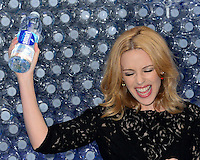 AUG 28 Kylie Minogue launches Glacéau's new water product, Smartwater