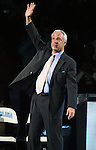"13 October 2006: UNC head coach Roy Williams. The University of North Carolina at Chapel Hill Tarheels held their first Men's and Women's basketball practices of the season as part of ""Late Night with Roy Williams"" at the Dean E. Smith Center in Chapel Hill, North Carolina."