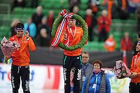 SPEED SKATING: HAMAR: Vikingskipet, 05-03-2017, ISU World Championship Allround, Final Podium Men, Patrick Roest (NED), Sven Kramer (NED), ©photo Martin de Jong