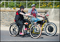 BNPS.co.uk (01202 558833)<br /> Pic: PhilYeomans/BNPS<br /> <br /> Easy riders pedal along the seafront.<br /> <br /> Sizzling Sunday - Holidaymakers make the most of the first hot weekend of the year on Bmth beach today.
