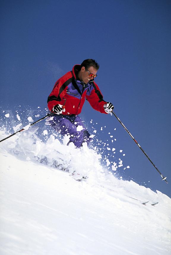 Dan Lakatos (MR521) alpine skiing, Breckenridge Ski Area, Summit County, CO. Dan Lakatos (MR521). Summit County, Colorado.