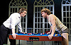 The Divided Laing <br /> by Patrick Marmion <br /> at the Arcola Theatre, London, Great Britain <br /> press photocall <br /> 17th November 2015 <br /> <br /> <br /> Alan Cox as R D Ronnie Laing <br /> Oscar Pearce as David Cooper <br /> <br /> <br /> <br /> <br /> Photograph by Elliott Franks <br /> Image licensed to Elliott Franks Photography Services
