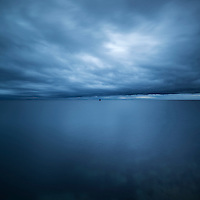 Cloudy sky over vestfjord, Stamsund, Vestvagoy, Lofoten Islands, Norway