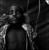 Luanda, Angola, May 21, 2006.Benjamin, 4, is a patient at the Cazenga MSF operated cholera field clinic. Between February and June 2006, more than 30000 people were infected with cholera in Angola's worse outbreak ever; more than 1300 died.