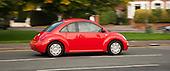 Red VW Beetle in London.