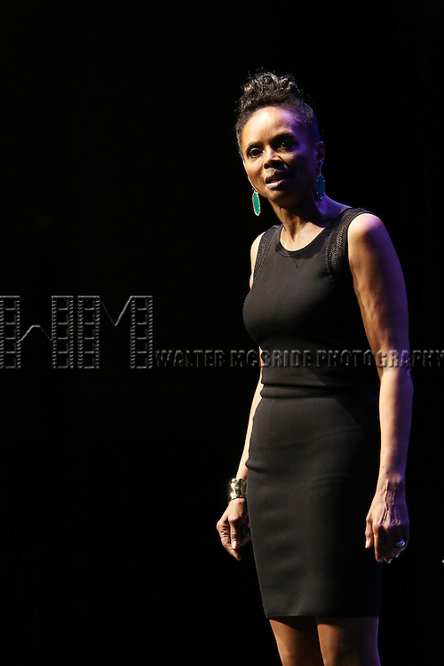 Debbi Morgan performs at Woodie King Jr.'s New Federal Theatre 44th Anniversary Gala honoring Voza Rivers at BMCC Tribeca Performing Arts Center on March 16, 2014 in New York City.