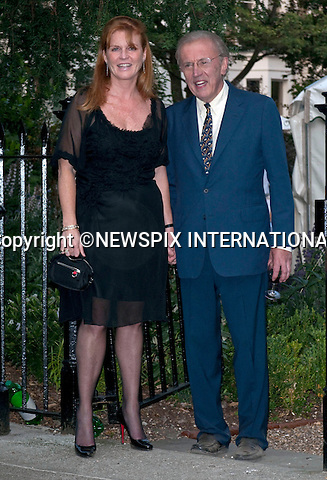 """SARAH FERGUSON AND DAVID FROST.David Frost's annual party attended by Royalty; Celebrities and Politicians, London_02/07/2009.Mandatory Photo Credit: ©Dias/Newspix International..**ALL FEES PAYABLE TO: """"NEWSPIX INTERNATIONAL""""**..PHOTO CREDIT MANDATORY!!: NEWSPIX INTERNATIONAL(Failure to credit will incur a surcharge of 100% of reproduction fees)..IMMEDIATE CONFIRMATION OF USAGE REQUIRED:.Newspix International, 31 Chinnery Hill, Bishop's Stortford, ENGLAND CM23 3PS.Tel:+441279 324672  ; Fax: +441279656877.Mobile:  0777568 1153.e-mail: info@newspixinternational.co.uk"""