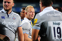 Will Homer of Bath Rugby looks on after the match. Pre-season friendly match, between Leinster Rugby and Bath Rugby on August 26, 2016 at Donnybrook Stadium in Dublin, Republic of Ireland. Photo by: Patrick Khachfe / Onside Images