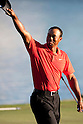 Tiger Woods (USA),.MARCH 25, 2012 - Golf :.Tiger Woods of United States responds to the cheers of the crowd with raise a cap on the 18th green. after winning the final round of the Arnold Palmer Invitational at Arnold Palmer's Bay Hill Club and Lodge in Orlando, Florida. (Photo by Thomas Anderson/AFLO)(JAPANESE NEWSPAPER OUT)