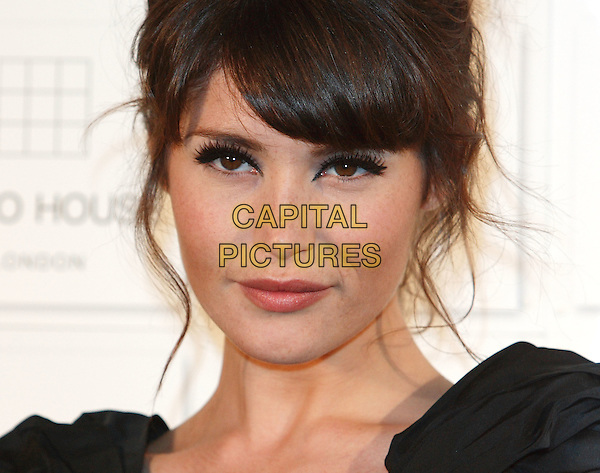 GEMMA ARTERTON.Attending The British Independent Film Awards,The Brewery, London, England, UK, December 6th 2009. .arrivals portrait headshot fringe black .CAP/ROS.©Steve Ross/Capital Pictures