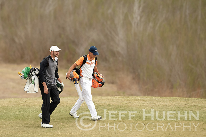 SAN ANTONIO, TX - MARCH 25, 2014: The UTSA Men's Golf Team hosts the Lone Star Invitational Golf Tournament at the Briggs Ranch Golf Club. (Photo by Jeff Huehn)