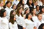 TORRINGTON, CT-042017JS15- Members of the Torrington Middle School choruses sing their set during the Torrington Public School's district wide Choral Celebration concert held Thursday at Torrington High School. The concert comes as the district was once again named Best Communities for Music Education in America 2017. <br /> Jim Shannon Republican-American