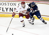 Chris Kreider (BC - 19), Andrew Kizito (Toronto - 24) - The Boston College Eagles defeated the visiting University of Toronto Varsity Blues 8-0 in an exhibition game on Sunday afternoon, October 3, 2010, at Conte Forum in Chestnut Hill, MA.