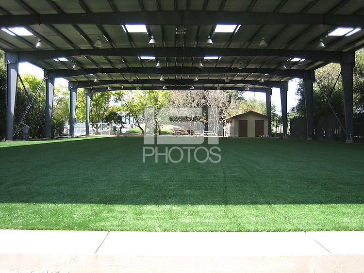 30 March 2007: Photographs of the batting cage facility construction at Sunken Diamond in Stanford, CA.