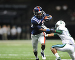 Ole Miss wide receiver Ja-Mes Logan (85) gets past Tulane's Lorenzo Doss (6) to score in the first half at the Mercedes-Benz Superdone in New Orleans, La. on Saturday, September 22, 2012. Ole Miss won 39-0...