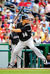 9 July 2011: Colorado Rockies infielder Mark Ellis in action against the Washington Nationals at Nationals Park in Washington, District of Columbia. The Rockies edged out the Nationals 2-1 to win the second game of their 3-game series. Mandatory Credit: Ed Wolfstein Photo