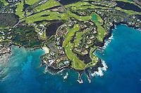 Aerial of Kohala Coast development at Mauna Lani Resort Beach Club