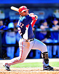 7 March 2010: Washington Nationals' infielder Alberto Gonzalez at bat during a Spring Training game against the New York Mets at Tradition Field in Port St. Lucie, Florida. The Mets edged out the Nationals 6-5 in Grapefruit League pre-season play. Mandatory Credit: Ed Wolfstein Photo