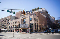 The Village East Cinema, a multiplex in the East Village in new York on Tuesday, February 2, 2016. Originally a Yiddish theater from the 1930's it became a movie house in the 1940's, an off-Broadway theater in the 1950's, a burlesque house in the 1960's , back to a theater in the 1970's and a movie theater from the 1990's. (© Richard B. Levine)
