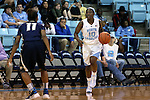 04 November 2015: North Carolina's Jamie Cherry (10) and Wingate's Taziya Moody (11). The University of North Carolina Tar Heels hosted the Wingate University Bulldogs at Carmichael Arena in Chapel Hill, North Carolina in a 2015-16 NCAA Women's Basketball exhibition game. UNC won the game 86-84.