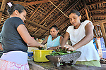 Women grind natural ingredients to make soap in El Bonete, a small village in northwestern Nicaragua.