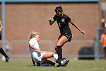 21 August 2016: Charlotte's Rebecca Beatty (6) and North Carolina's Megan Buckingham (18). The University of North Carolina Tar Heels hosted the University of North Carolina Charlotte 49ers in a 2016 NCAA Division I Women's Soccer match. UNC won the game 3-0