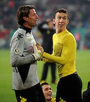 FUSSBALL   DFB POKAL   SAISON 2011/2012  ACHTELFINALE  Fortuna Duesseldorf - Borussia Dortmund              20.12.2011 Torwart Roman Weidenfeller und Ivan Perisic (v.l., beide Borussia Dortmund)