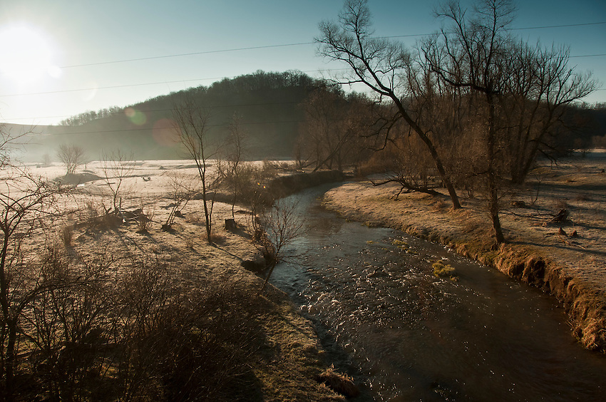 The Green River a trout stream in the Driftless Area of southwestern Wisconsin.