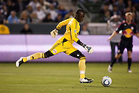Bouna Coundoul (18) New York Red Bulls about to send a goal kick up field. Red BullThe LA Galaxy and Red Bulls of New York played to a 1-1 tie at Home Depot Center stadium in Carson, California on  May 7, 2011....