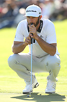 February 21, 2016: Dustin Johnson during the final round of the Northern Trust Open, Pacific Palisades,CA. Michael Zito/ESW/CSM