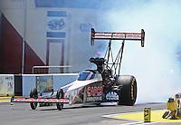 Jun 6, 2016; Epping , NH, USA; NHRA top fuel driver Steve Torrence during the New England Nationals at New England Dragway. Mandatory Credit: Mark J. Rebilas-USA TODAY Sports