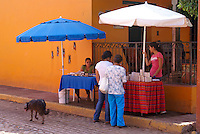 Street vendors in the town of El Quelite near  Mazatlan, Sinaloa, Mexico