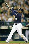 Seattle Mariners'  Ken Griffey Jr., bats against the Baltimore Orioles at SAFECO Field in Seattle April 19, 2010. The  Mariners beat the Orioles 8-2. Jim Bryant Photo. &copy;2010. ALL RIGHTS RESERVED.
