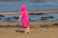Runswick Bay - North Yorkshire - England- child on beach