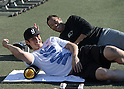 Baseball: Japanese pitcher Hiroki Kuroda training session in Los Angeles