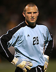 1 November 2006: Boston College goalkeeper Chris Brown. Maryland defeated Boston College 1-0 in double overtime at the Maryland Soccerplex in Germantown, Maryland in an Atlantic Coast Conference college soccer tournament quarterfinal game.