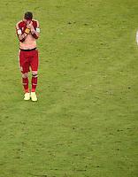 FUSSBALL WM 2014  VORRUNDE    Gruppe B     Spanien - Chile                           18.06.2014 Sergio Ramos (Spanien) ist nach dem Abpfiff enttaeuscht