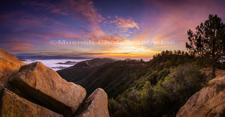 La Cumbre Peak, Santa Ynez Mountains, Los Padres National Forest, California