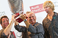 SPAIN, Barcelona. 17th September 2011. AUDI MedCup, Conde de Godo Barcelona Trophy. The crew of TP52, Quantum Racing, winners of the 2011 AUDI MedCup.