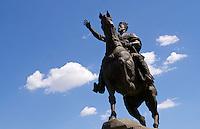 Uzbekistan, Tashkent.<br /> Amir Timur (Tamerlane) statue.