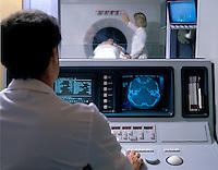 CAT scan procedure.