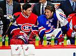 24 January 2009: Montreal Canadiens goaltender Carey Price (left) chats with New York Rangers goaltender Henrik Lundqvist (right) prior to the NHL SuperSkills Competition, part of the All-Star Weekend at the Bell Centre in Montreal, Quebec, Canada. ***** Editorial Sales Only ***** Mandatory Photo Credit: Ed Wolfstein Photo