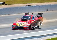 May 7, 2017; Commerce, GA, USA; NHRA funny car driver Jonnie Lindberg during the Southern Nationals at Atlanta Dragway. Mandatory Credit: Mark J. Rebilas-USA TODAY Sports
