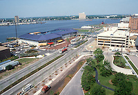 1983 May 18..Redevelopment.Downtown South (R-9)..WATERSIDE.CONSTRUCTION PROGRESS.VIEW FROM ROYSTER BUILDING..NEG#.NRHA#..