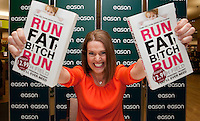 *** NO FEE PIC***.20/04/2012.Author Ruth Field signing copies of Run Fat B!tch Run at Eason OConnell Street, Dublin..Photo: Gareth Chaney Collins