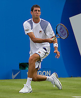 James Ward (WC) (GBR) against Robbie Ginepri (USA) in the first round of the men's singles. Robbie Ginepri beat James Ward 6-3 7-5..Tennis - ATP World Tour - AEGON Championships - Queen's Club - London - Day 1 - Mon 07 Jun 2010..© AMN Images - Level 1, Barry House, 20-22 Worple Road, London, SW19 4DH.Tel - +44 (0) 208 947 0100.email - mfrey@advantagemedianet.com. www.photoshelter.com/c/amnimages.