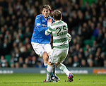 Celtic v St Johnstone.....04.03.15<br /> Murray Davidson colides with Stefan Johansen<br /> Picture by Graeme Hart.<br /> Copyright Perthshire Picture Agency<br /> Tel: 01738 623350  Mobile: 07990 594431